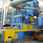 Granalladora de cinta metálica para piezas de aluminio