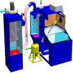 Direct pressure blasting machine image. SBF/P series