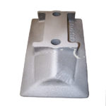 Image of steel treatment with white corundum (aluminium oxide)