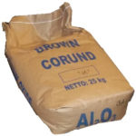 Image of brown corundum bag (aluminium oxide)