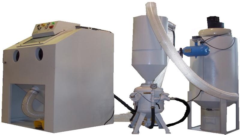 Imagen de chorreadoras a presión directa. Serie SBF/P