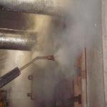 Limpieza por vapor saturado lanza