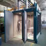 Instalaciones de granallado (cabina)