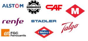 Logo de clientes sector ferroviario