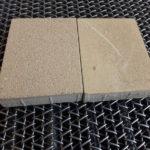 Piedra granallada vs sin granallar